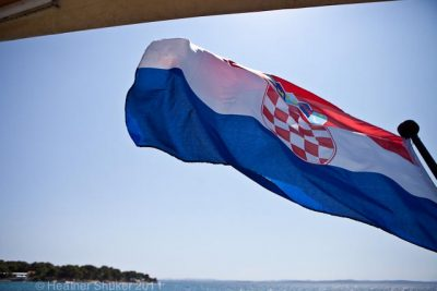 croatian flag on boat